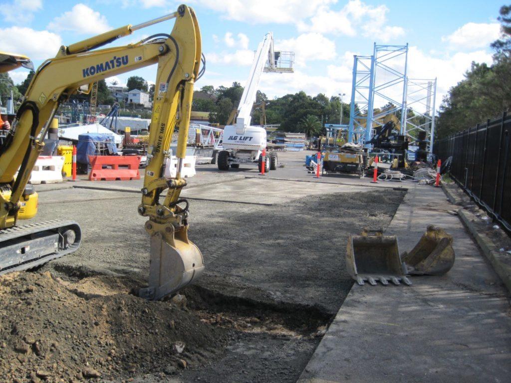 Civil earthworks waterway construction