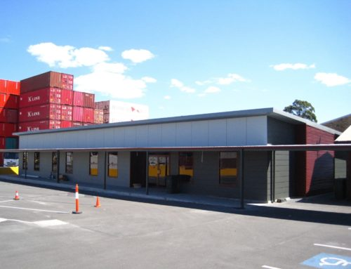 Steel Framed Office Building – Maritime Container Services